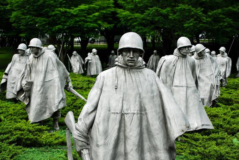 Minnesmärke för koreanskt krig i Washington DC arkivfoto