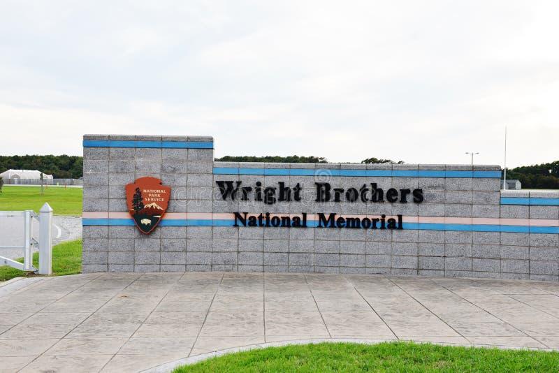 Minnesmärke för North Carolina USA wright brodermedborgare royaltyfri bild
