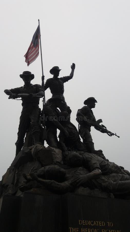 Minnesmärke för Tugu negarakrig Malaysia arkivfoton