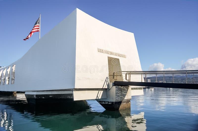 Minnesmärke för USS Arizona fotografering för bildbyråer