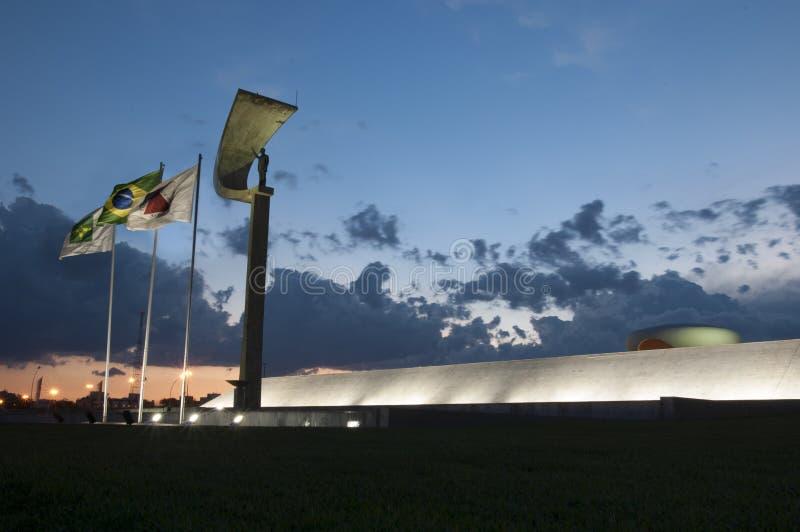 Minnesmärke JK i Brasilia fotografering för bildbyråer
