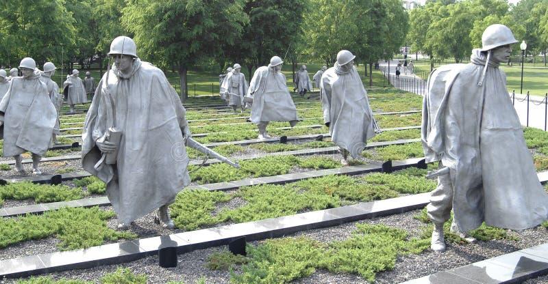 Minnesmärken för koreanskt krig i Washington, DC royaltyfri foto