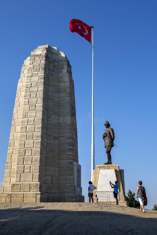 Minnesmärken till Mustafa Kemal på Gallipoli fotografering för bildbyråer