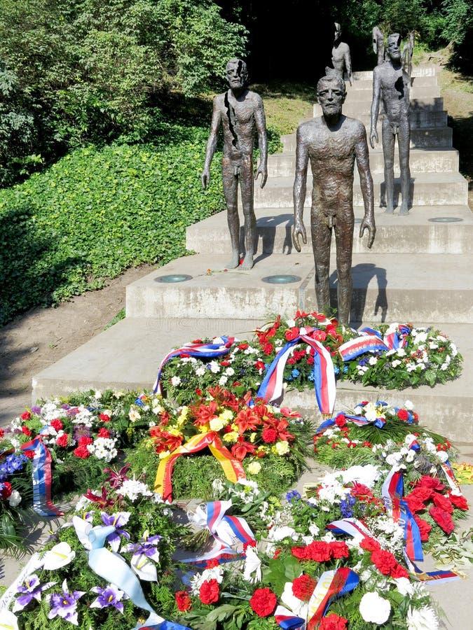 Minnesmärken till offren av kommunism, Petrin, Prague, tjeck royaltyfri fotografi