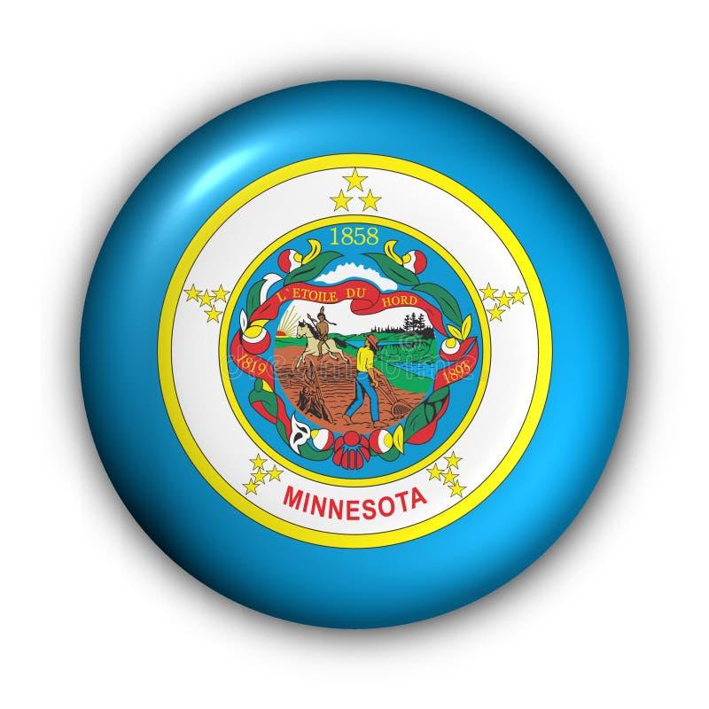 Minnesota bandery guzik rundę stanu usa ilustracja wektor