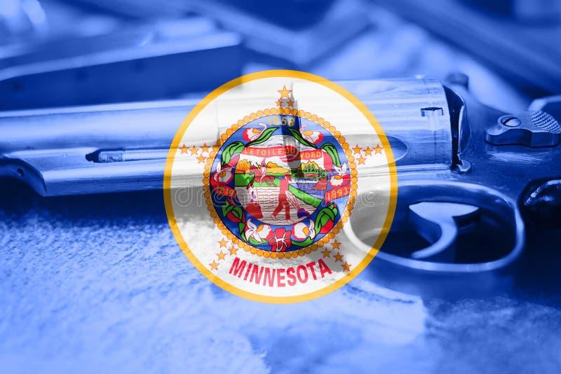 Minnesota-Flagge U S Zustand Reglementierung von Waffenbesitz USA Vereinigte Staaten stockbild