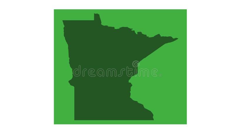 Minnesota-Karte - Zustand in den nördlichen Regionen der Vereinigten Staaten lizenzfreie abbildung