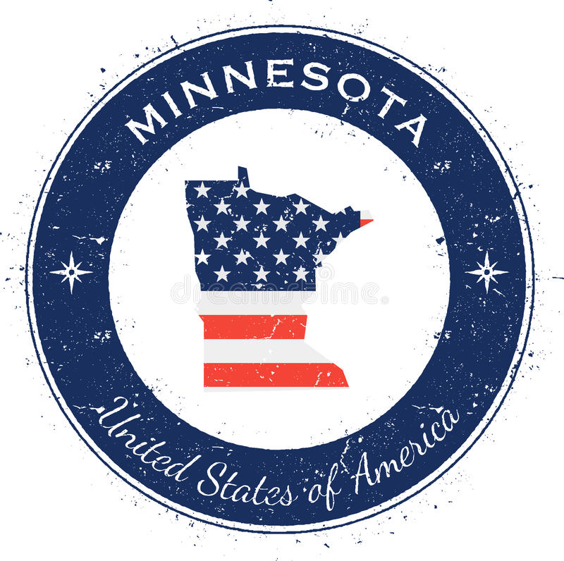 Minnesota runt patriotiskt emblem royaltyfri illustrationer
