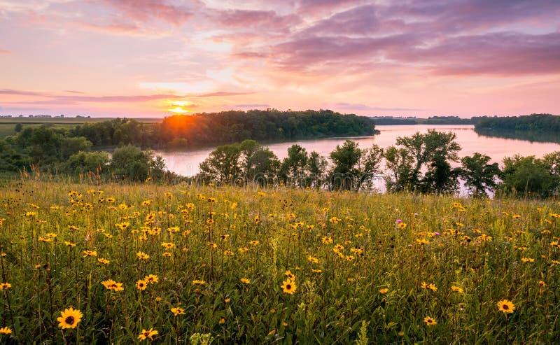 Minnesota-Sonnenuntergang lizenzfreie stockfotos