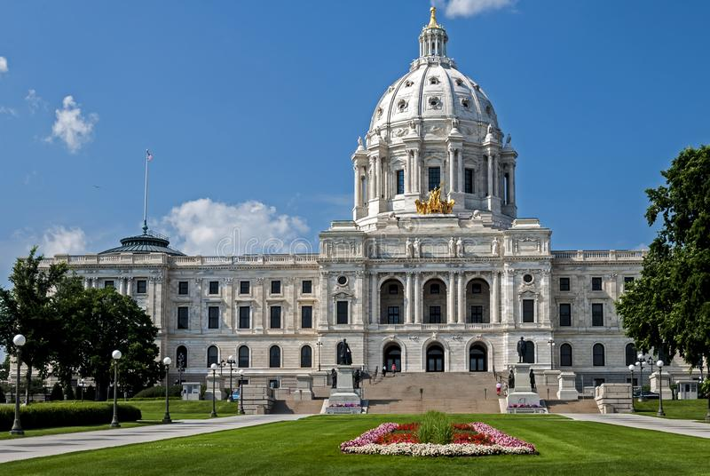 The Minnesota state Capitol building in St. Paul stock photography