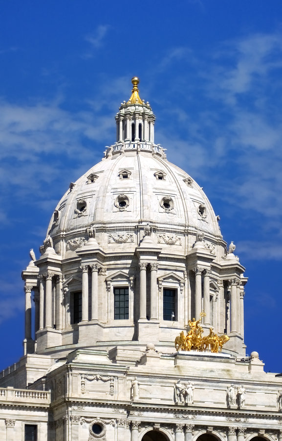 Minnesota State Capitol St Paul MN - Straight On Royalty Free Stock Photos