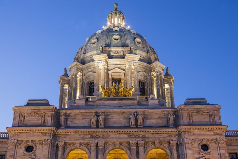 Minnesota statKapitolium i St Paul royaltyfri fotografi