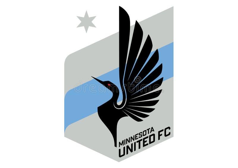 Minnesota unió el logotipo de FC ilustración del vector