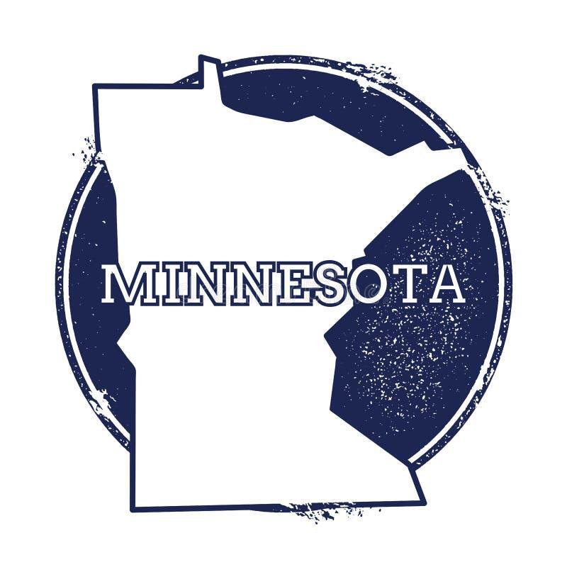 Minnesota vektoröversikt royaltyfri illustrationer
