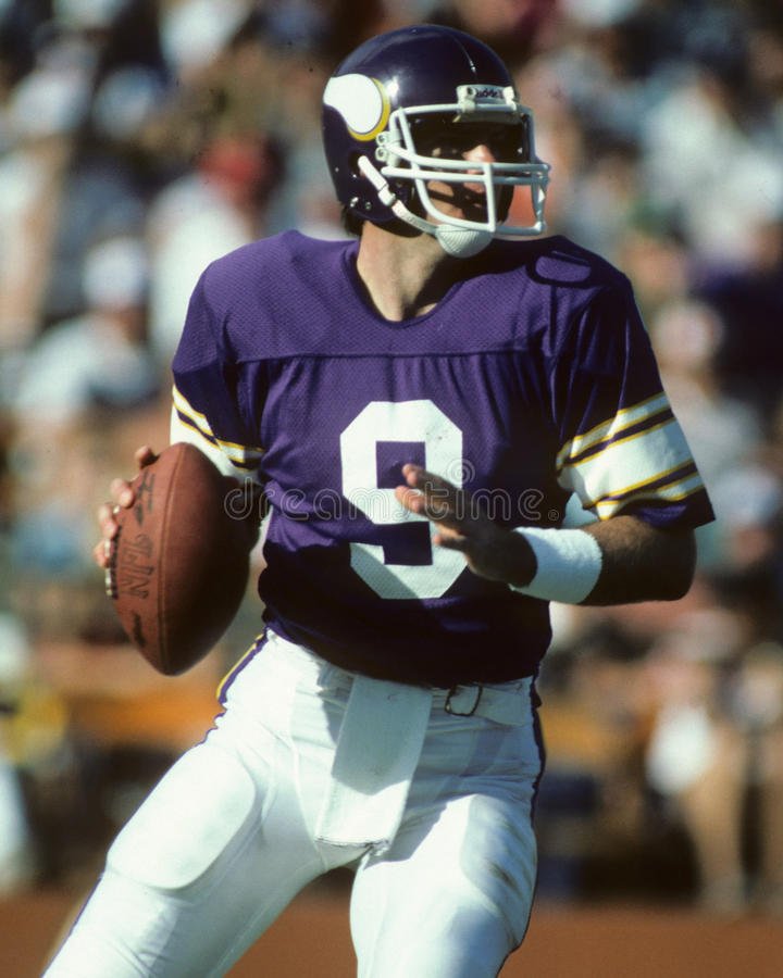 Minnesota Vikings QB Tommy Kramer στοκ φωτογραφίες με δικαίωμα ελεύθερης χρήσης