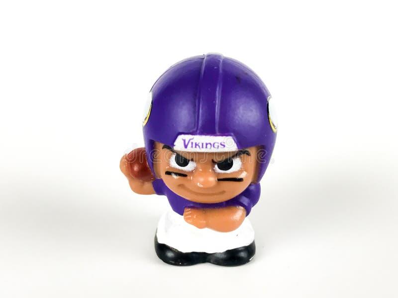 Minnesota Vikings Toy Figure imagem de stock