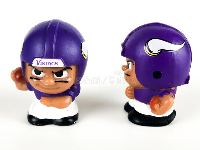 Minnesota Vikings Toy Figures foto de stock royalty free