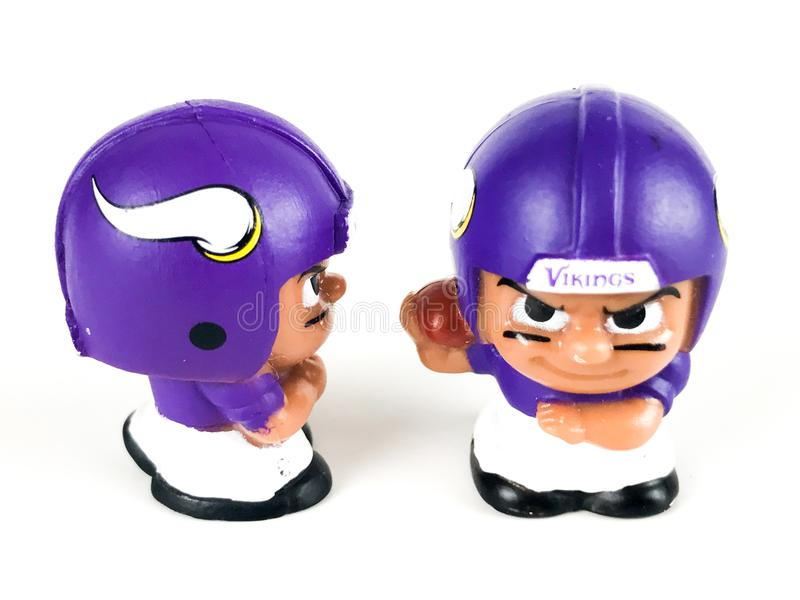 Minnesota Vikings Toy Figures imagens de stock royalty free
