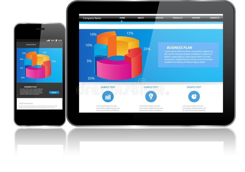 Minnestavla- och Smart telefon royaltyfri illustrationer