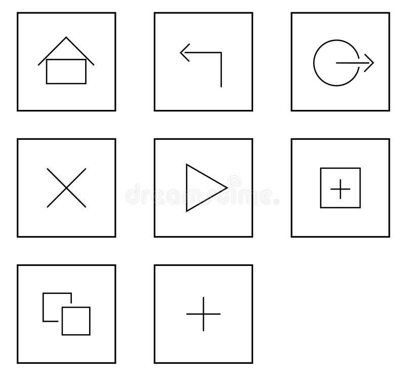 Minnestavlahandlagsymboler vektor illustrationer