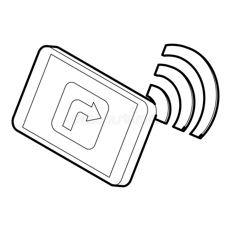 MinnestavlaPC:n med gps och wifien undertecknar symbolen vektor illustrationer