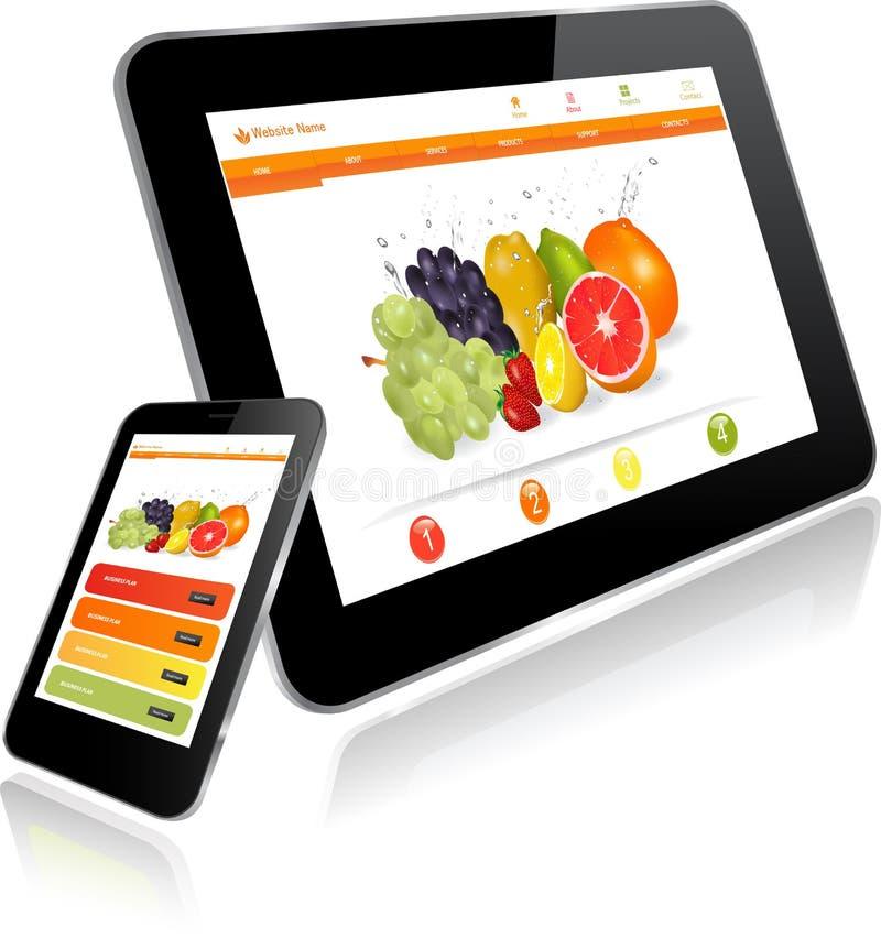 MinnestavlaPC och smart telefon royaltyfri illustrationer