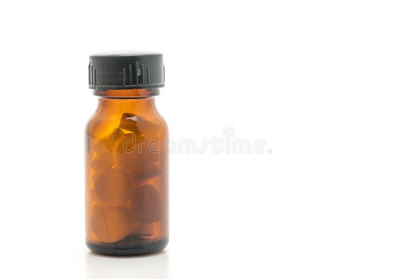 Minnestavlapiller, droger, apotek, medicin eller läkarundersökning på vit bac royaltyfri fotografi