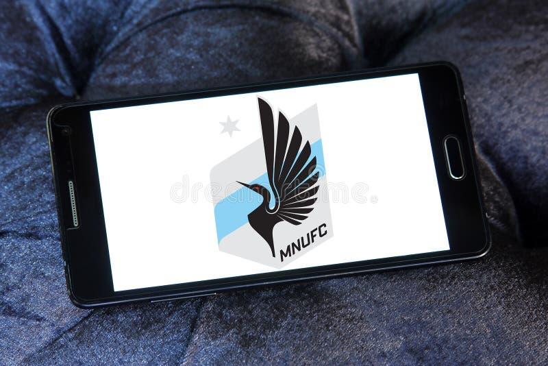 Minnestoa Jednoczył FC piłki nożnej klubu loga royalty ilustracja