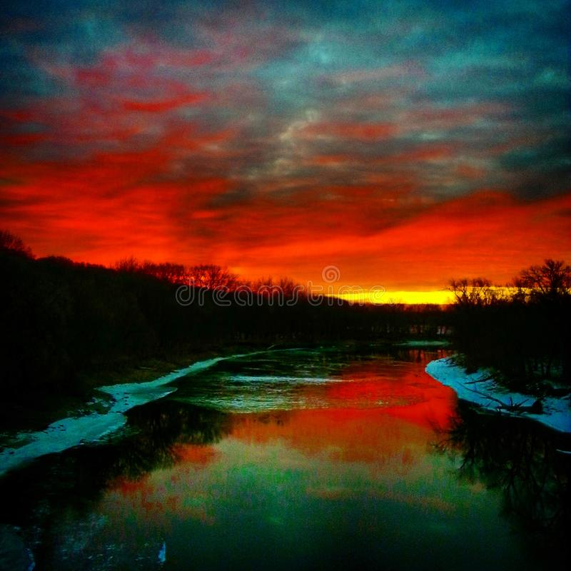 Minnestoa rzeka obrazy stock