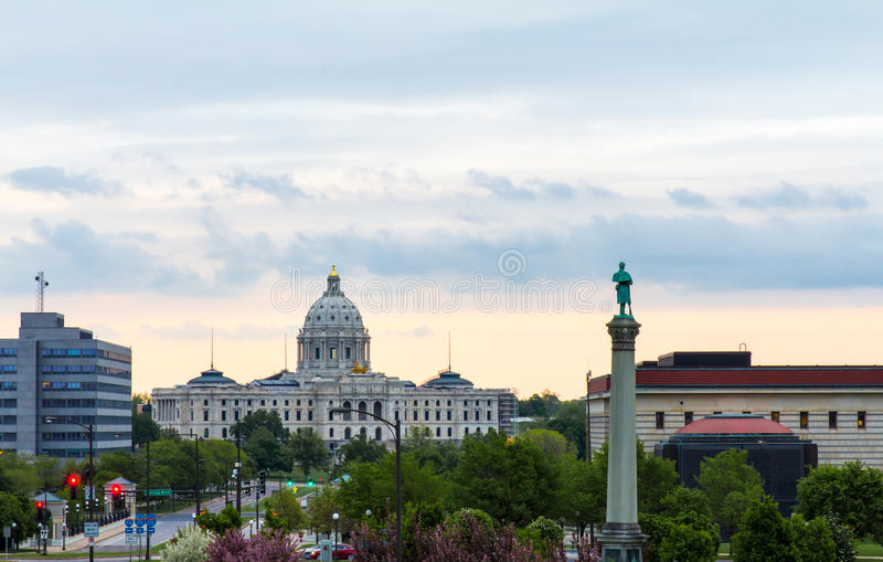 Minnestoa stanu Capitol budynek fotografia stock