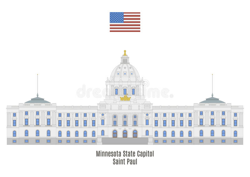Minnestoa stanu Capitol, Saint Paul ilustracji