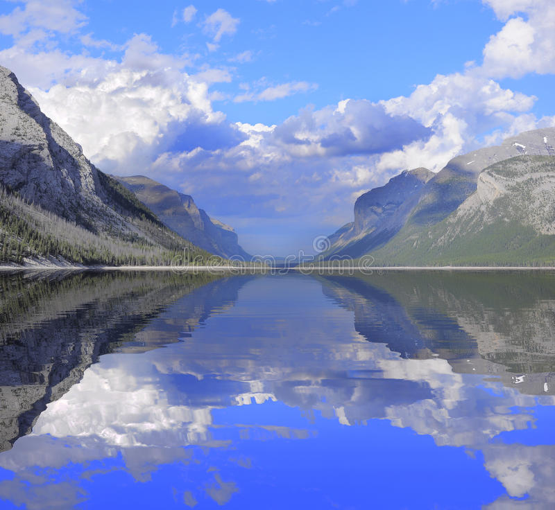Minnewanka Lake. Banff National Park. Alberta. Canada royalty free stock photography