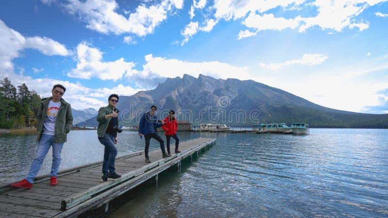 Minnewanka lake, CANADA royalty free stock images