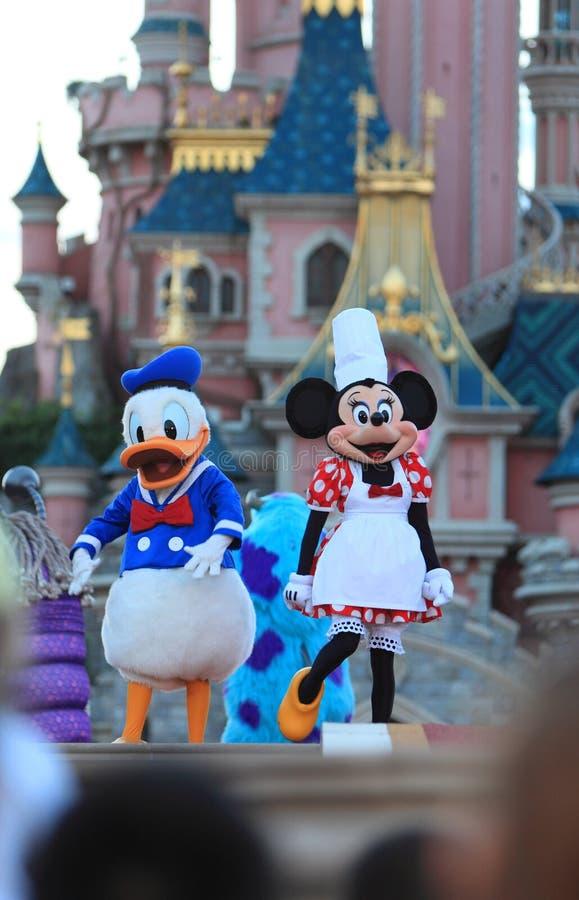 Minnie Maus und Donald Duck stockbild