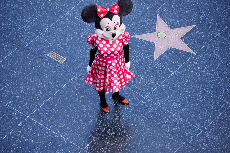 Minnie Mouse charakter obrazy stock