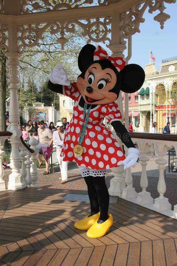 Minnie Mouse, Disneyland in Parijs stock afbeeldingen