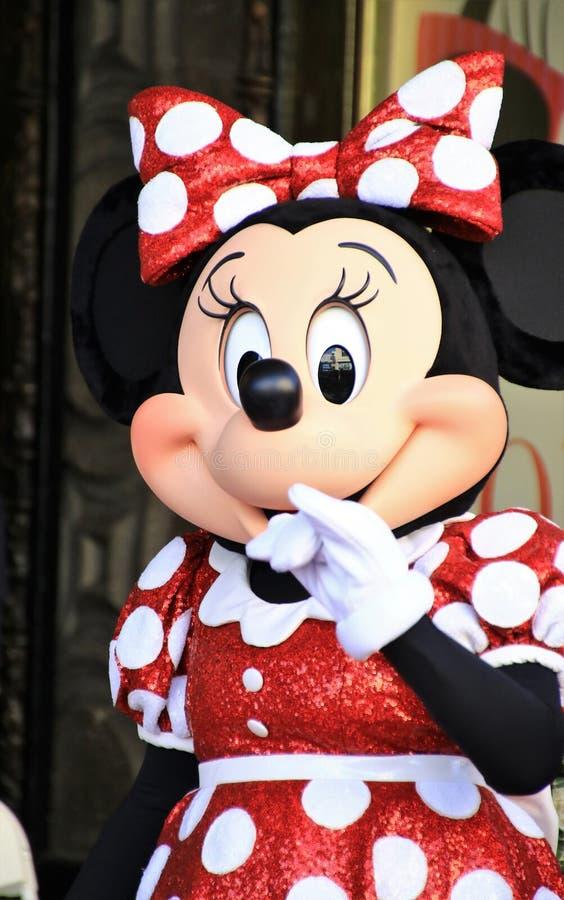 Minnie Mouse krijgt een ster royalty-vrije stock afbeeldingen