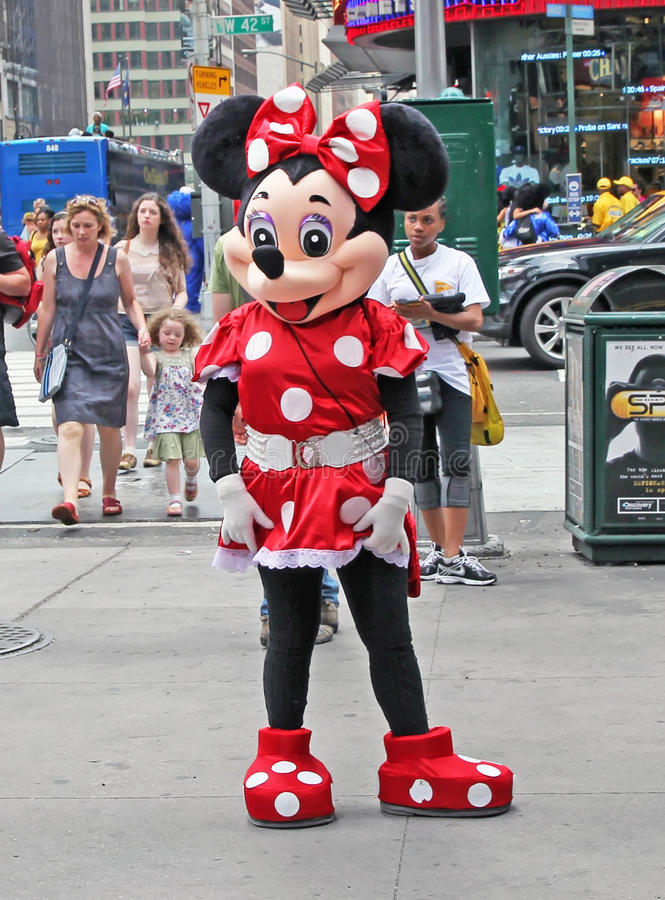 Download Minnie Mouse In NY. editorial photography. Image of children - 25681122