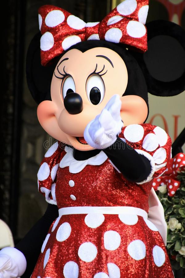Minnie Mouse obtient une étoile photo stock