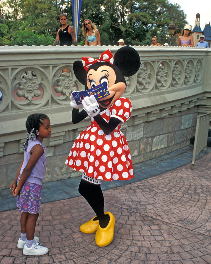 Minnie Mouse signs autograph royalty free stock images