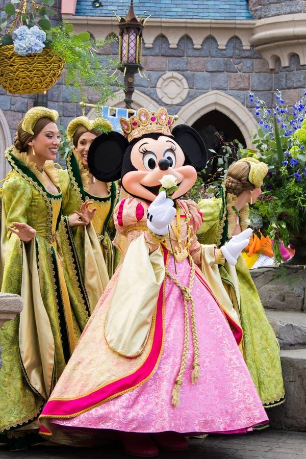 Minnie Mouse tijdens een show, Disneyland Parijs stock afbeelding