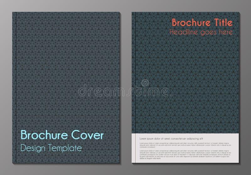 Minnimalistic het ontwerpmalplaatjes van de brochuredekking stock illustratie