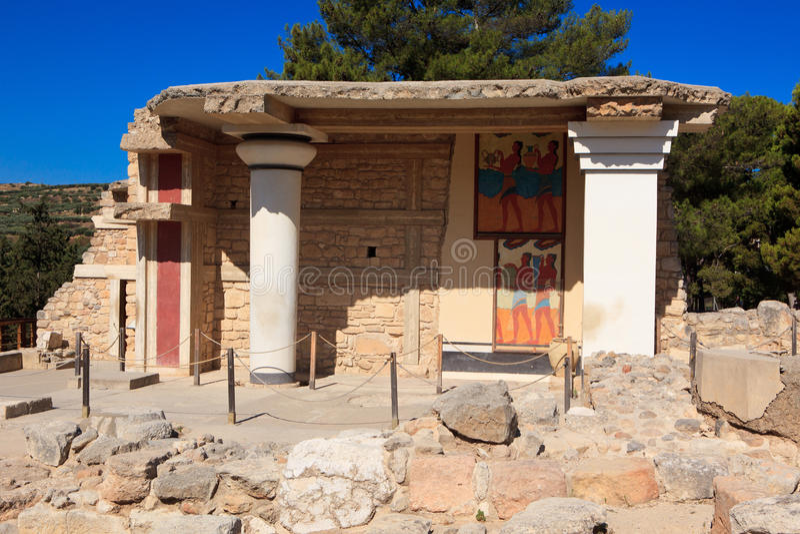 minoan παλάτι knossos στοκ φωτογραφία με δικαίωμα ελεύθερης χρήσης