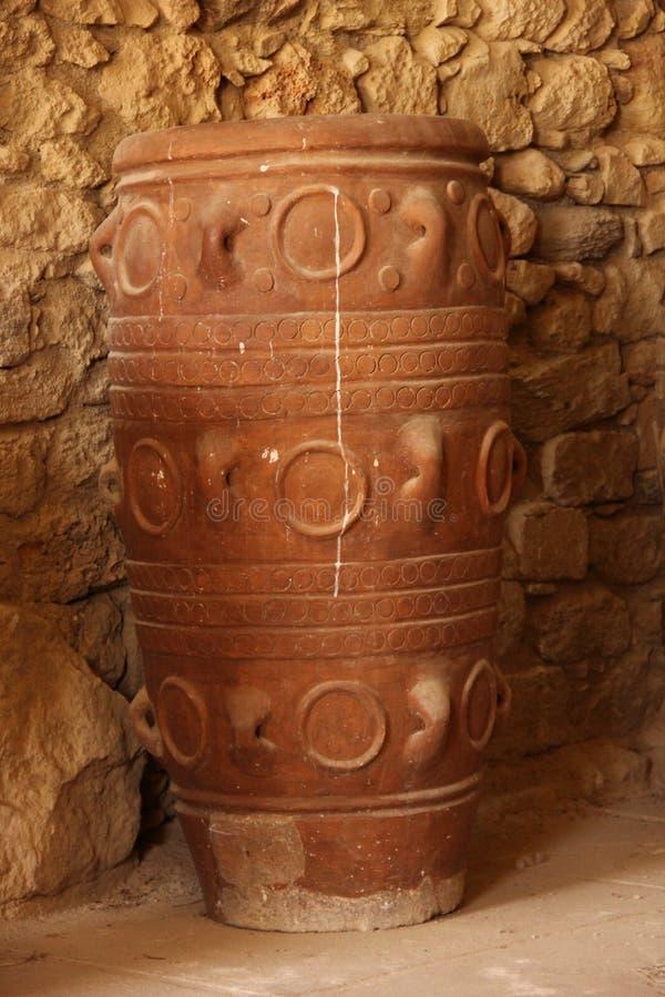 Minoan amfora arkivbild