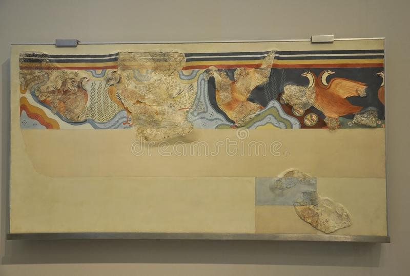 Minoan Archeologiczny Muzealny wnętrze od Heraklion w Crete wyspie obraz royalty free