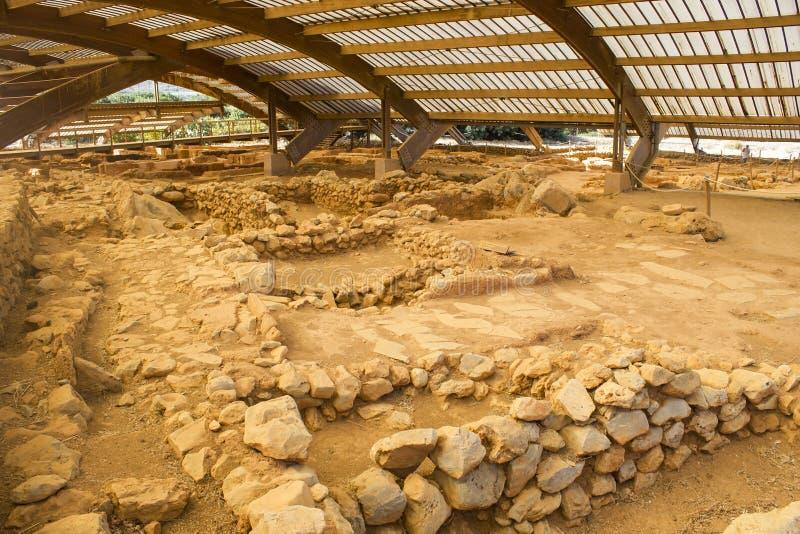 Minoan Malia губит археологические раскопки, Malia, Крит стоковые фото