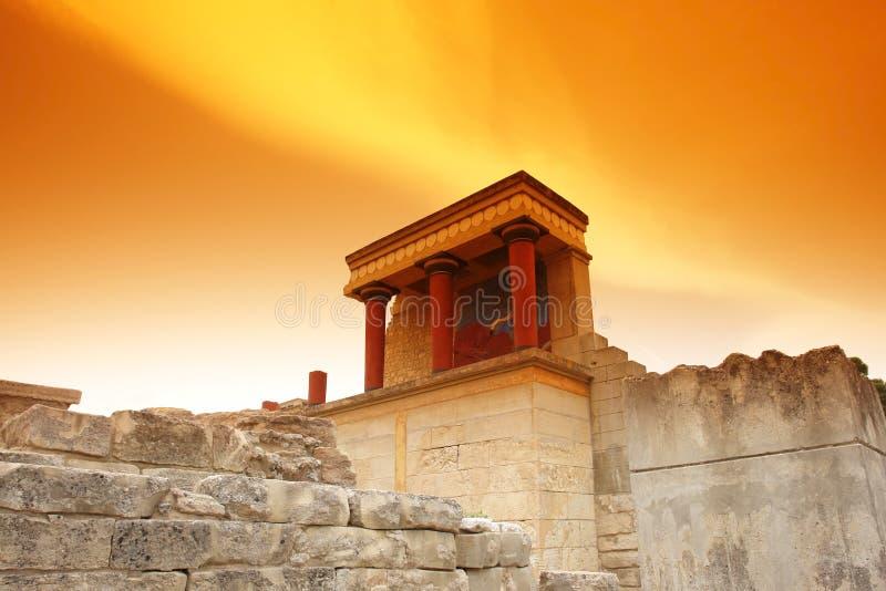 Minoan Palast bei Knossos lizenzfreies stockbild