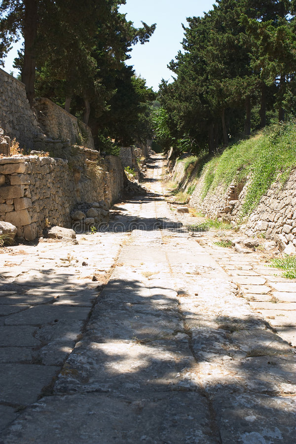 Download Minoan path stock image. Image of knosos, greece, little - 168717