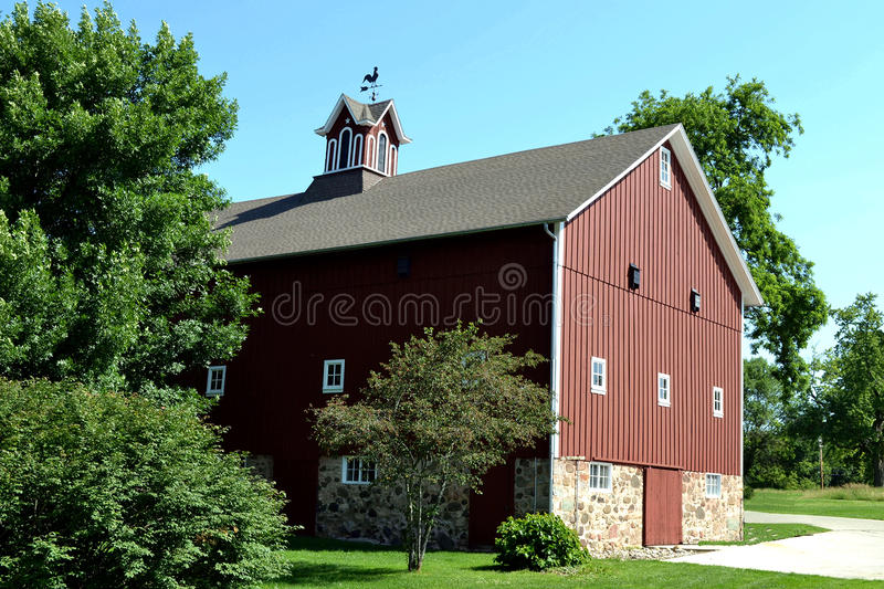 Red Barn. Barn at Minooka Park, WI royalty free stock image