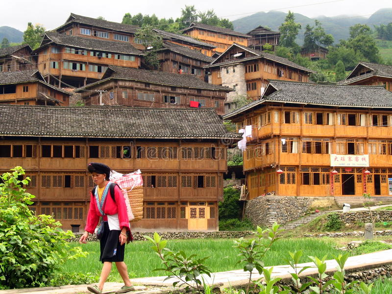 Minoría étnica de Yao, Longsheng, China fotografía de archivo libre de regalías